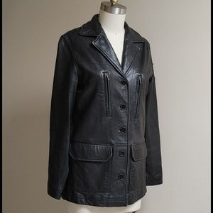 Vintage Lucky Brand Lamb Leather Jacket S